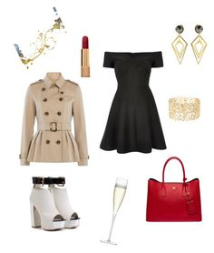 """New Years Eve Party"" by ila-rose ❤ liked on Polyvore featuring River Island, Prada, Burberry, Charlotte Russe, Sarah Magid, Chanel, LSA International, women's clothing, women and female"