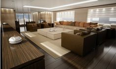 modern yacht interiors | Yacht Interiors - Custom Yacht Interior Design for Luxury Yachts
