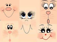 Desenhar um rosto de pessoas! / Vários brinquedos artesanais / PassionForum - master classes em bordados
