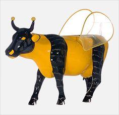 """High Cowrumble Bee""... Cow Parade Boston, 2006"