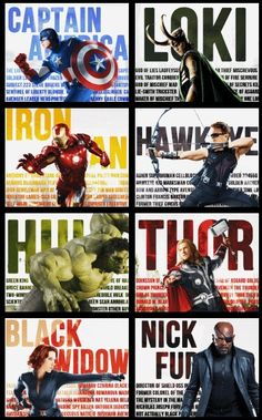 The fact that they put Serrure in Loki's panel made this the best Avengers appreciation poster evah.