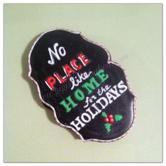 'No Place Like Home' Christmas cookie