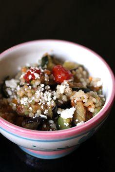 Kitchen Grrrls.: Roasted Veg Israeli Couscous