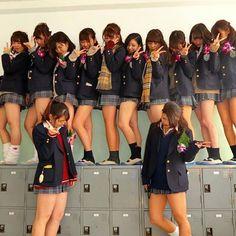 An even dozen? Japanese School Uniform Girl, School Uniform Fashion, School Girl Japan, School Girl Outfit, School Uniform Girls, High School Girls, Japan Girl, Girl Outfits, Cute School Uniforms