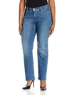 Levis Womens PlusSize 414 Relaxed Straight Fit Jeans Northwest Sky 18 Plus Short >>> Details can be found by clicking on the image.