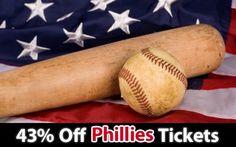 43% off Philadelphia Phillies Tickets vs Atlanta Braves Sun. Jul. 8 @ 1:35pm