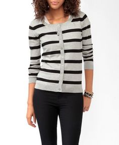 Striped Long Sleeve Cardigan | FOREVER21 - 2019571288