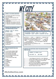 A collection of English ESL Prepositions worksheets for home learning, online practice, distance learning and English classes to teach about Education English, Teaching English, English Vocabulary, English Grammar, English Lessons, Learn English, English Exercises, English Reading, English Activities