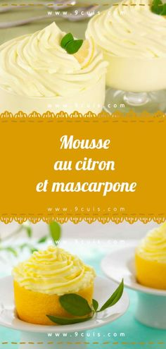 Trendy Ideas for cupcakes rezepte creme Fruit Recipes, Cupcake Recipes, Cupcake Cakes, Cooking Recipes, Cupcake Decorating Techniques, Cake Decorating Piping, Dessert Mousse, Mousse Cake, Mascarpone Recipes