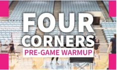 WARM UP WEDNESDAY! Coaches, use UNC's Four Corners Warm Up to warm up your team's passing and serving in a short amount of time. Four corners is a great drill to do as a warm-up before a game as it targets the basics of the game but progresses every ten reps or so.