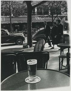 Todd Webb: From Café Table, Paris, 1949 - gelatin silver print (Smithsonian)