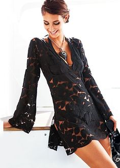 Gallery For > Black Lace Summer Dress