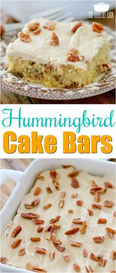 Hummingbird Cake Bars recipe from The Country Cook #desserts #pecan #easy #recipes #southern #homemade