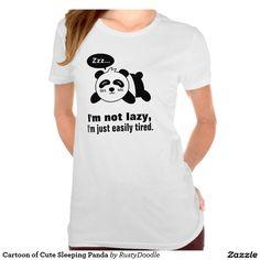 Cute Panda T-Shirts, Tees & Shirt Designs   Zazzle