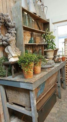 47 ideas for garden bench cottage potting tables