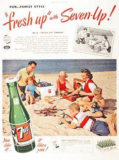 Perfect beach cooler - 7up!
