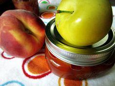 30 Minute Peach & Yellow Plum Jam from Canned-Time.com  #easyjams #freshfruitjam #nopectinjams #veganjams #veganpeachjam