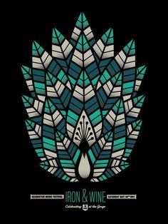 Concert Posters: Cool Art from Sasquatch! Festival Iron & Wine by Killorn O'Neill