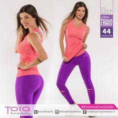 REF:1217 #Leggings RIP morado con pretina en softmesh  color coral,unitalla  Blusa larga en softmesh color coral,unitalla #ToraTraining #EntrenaConEstilo #Fitness #FitnessFashion #modadeportiva #gymwear