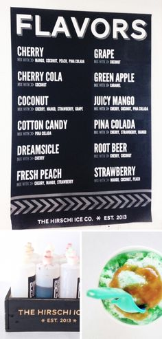 Free Printable Shave Ice Flavor Poster Cream Prices Hawaiian Shaved Snow Cone