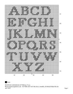 initials capital letters alphabet chart