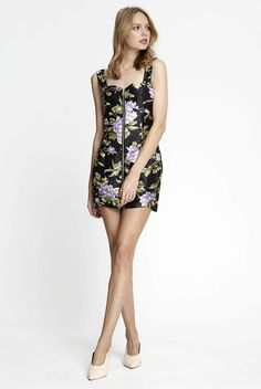 ALICE MCCALL Wild Flowers Dress. #alicemccall #cloth Alice Mccall, Beauty Boutique, Flower Dresses, Wild Flowers, Dresses For Sale, Hemline, Legs, How To Wear, Satin