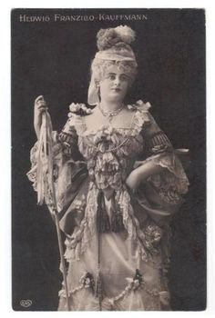 Hedwig Franzillo Kauffmann | Old Photo Hedwig Franzillo Kauffmann Actres Theatre Opera Germany Mail 1910 | eBay