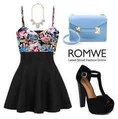 """ROMWE Skirt"" by tania-alves ❤ liked on Polyvore featuring mode, Forever 21 en Sophie Hulme"