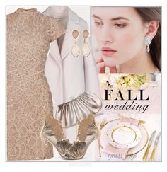"""Fall Wedding"" by goreti ❤ liked on Polyvore featuring Enföld, Raishma, Judith Leiber, Casadei, Dina Mackney and fallwedding"