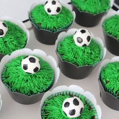 World Cup Soccer themed birthday party with Lots of Fabulous Ideas via Kara's Party Ideas Soccer Theme, Soccer Party, Sports Party, Soccer Ball, Soccer Birthday Cakes, Birthday Party Themes, Cute Cupcakes, Cupcake Cookies, Themed Cupcakes