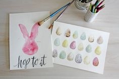 FREE WATERCOLOR Easter Printables. Hang them on your wall, or use them as a screensaver!! Aren't these the cutest?!?!?