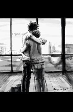 1D One Direction - Louis Tomlinson & Harry Styles - HaLo Larry fanart || D'awwe ❤❤