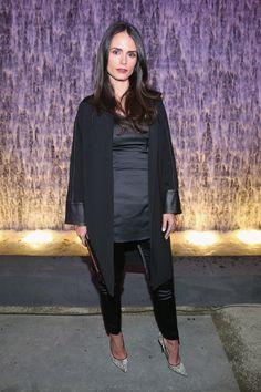 Jordana Brewster Pumps - Pointed-toe heels completed Jordana Brewster's edgy look.