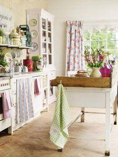 Cottage kitchen #homedecor
