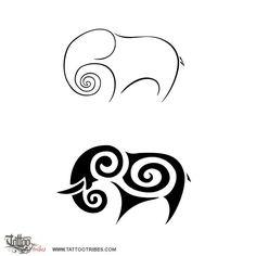 Gli elefanti sono famosi per la loro memoria, ma hanno un´altra caratteristica molto importante: la socialità.  Così un nuovo nato viene salutato e cresciuto da tutto il branco, con dedizione e devozione.  La spirale è un simbolo di eternità e il germoglio di felce che si srotola preso in prestito dalla cultura Maori è il simbolo di una nuova vita.