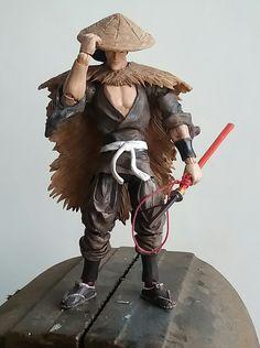 Jubei Kibegami from the 1993 anime movie Ninja scroll Ninja Scroll Anime, Ninja Art, Plastic Art, Samurai, Custom Action Figures, Nightmare On Elm Street, Vinyl Toys, Figure Model, Gi Joe