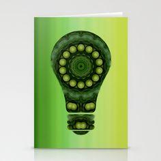 Green Energy Stationery Cards by DagmarMarina - $12.00