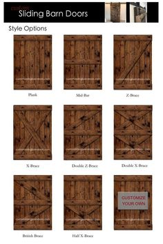 Rustikale Scheune Schiebetür - gemacht individuell passend zu Ihrem Stil All are barn sliding doors for a rustic or industrial look for your home. These are solid interior doors that give your home a Diy Barn Door, Barn Door Hardware, Door Latches, Diy Door, Rustic Hardware, Diy Sliding Barn Door, Double Barn Doors, Window Hardware, Solid Interior Doors