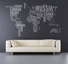Decor, map with names