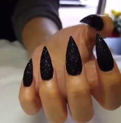 """CatWomanClaws!"" - usually don't like stiletto nails but these are too cute."