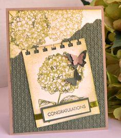 Congratulations ... Hydrangea Card (Stampin' Up)