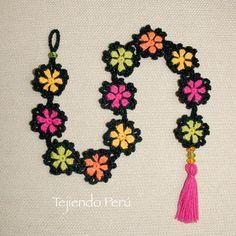Crochet: flores granny paso a paso... adorno colgante!
