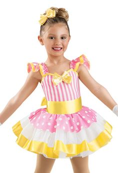 Girls' Striped and Dotted Dress; Weissman Costumes