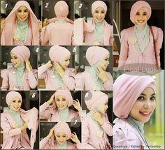 10 Tutorial Hijab Pesta Simpel Tapi Elegan 2016