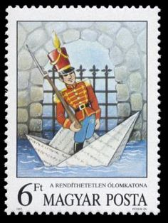 The Steadfast Tin Soldier --  Andersen's Fairy Tales on Stamps  --  Hungary—11 December 1987