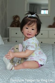 Teegan Reborn Vinyl Toddler Doll Kit by Ping Lau - Lifelike baby dolls - Reborn Baby Girl, Reborn Child, Reborn Toddler Dolls, Reborn Doll Kits, Newborn Baby Dolls, Real Life Baby Dolls, Life Like Babies, Silicone Reborn Babies, Silicone Baby Dolls