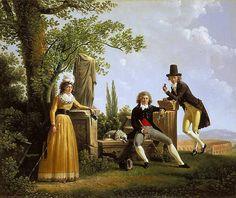 Retrato de família, François Sablet, 1794, Museu Cantonal de Belas Artes, Lausanne