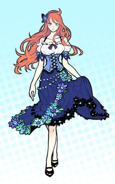 Nami One piece art blue. She is beatifull, like always