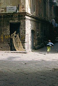 by to Ernest Pignon-Ernest, in Napoly #street #art