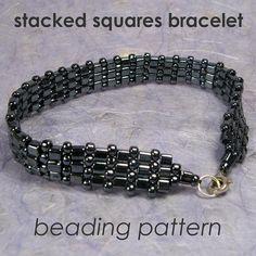 Beaded Bracelet Pattern peyote beaded by PMGJewelrySupplies, $4.00